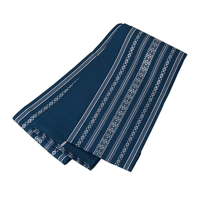 79c74c9b1c7b Amazon | 本場筑前 博多織 半幅帯 正絹 リバーシブル 小袋帯 青藍色 白 ...