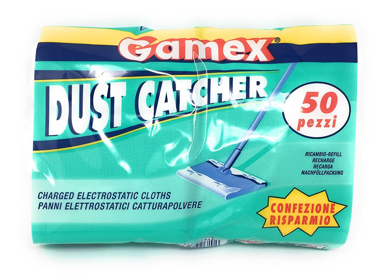 Gamex–Mocio elettrostatica cattura polvere–50pezzi–realizzato in Italia