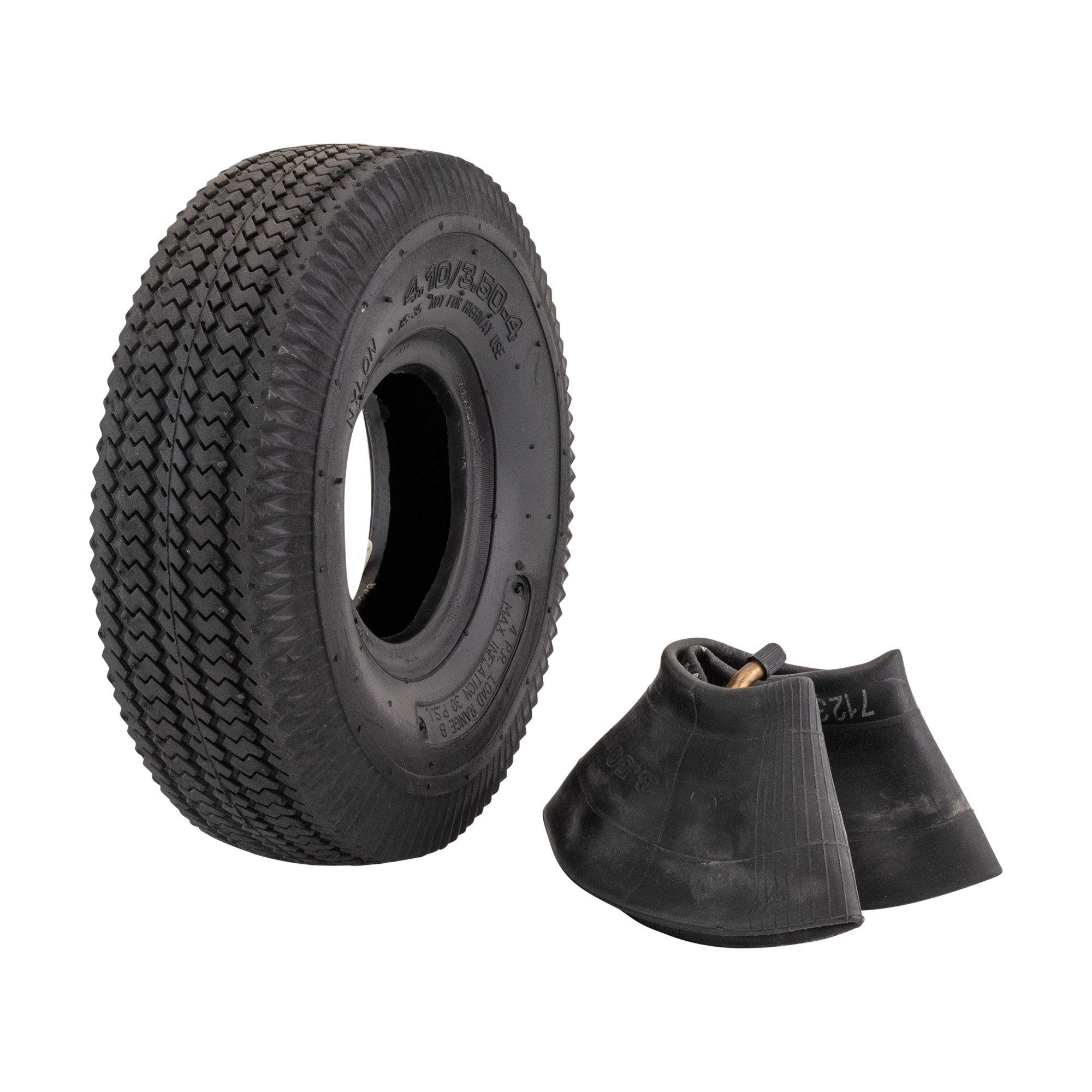 Marathon 4.10/3.50-4'' Pneumatic (Air Filled) Hand Truck / All Purpose Utility Tire and Inner Tube by Marathon Industries