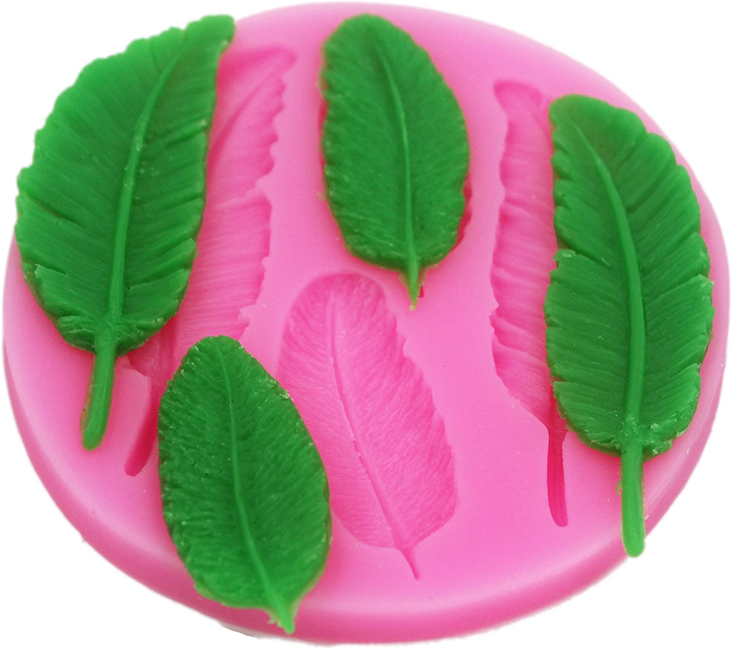 Feather Mould Silicone Cake Cupcake Decoration Backing Icing Mold Sugar Paste SA