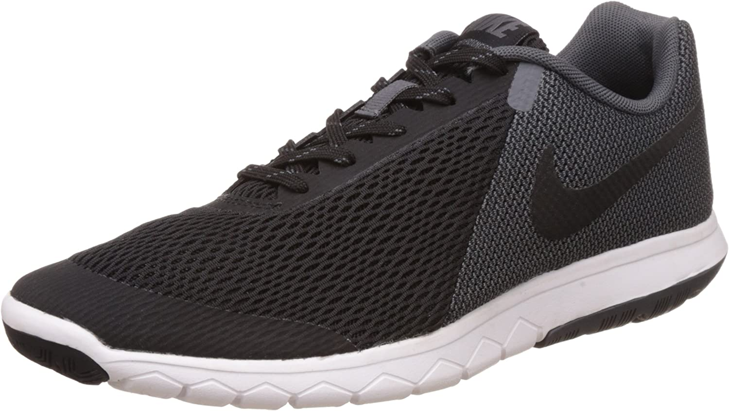 Nike Men s Flex Experience RN 4 Black Black Dark Grey White Running Shoe – 9 D M US