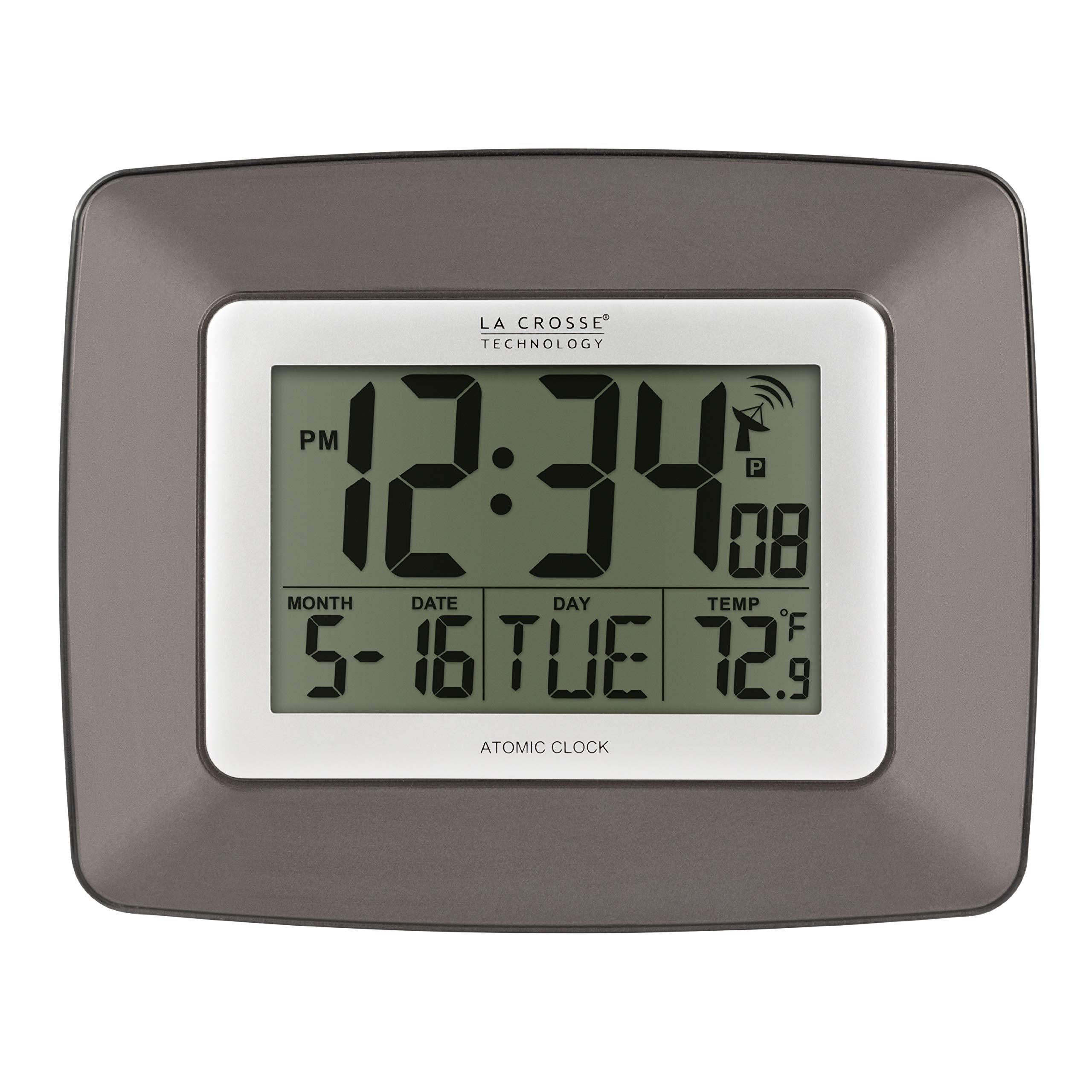 La Crosse Technology WS-8008U-IT Atomic Digital Wall Clock with Temperature