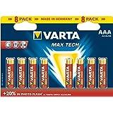Varta - Pile Alcaline - AAA x 8 - Max Tech (LR03)