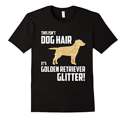 Golden Retriever Glitter T-Shirt