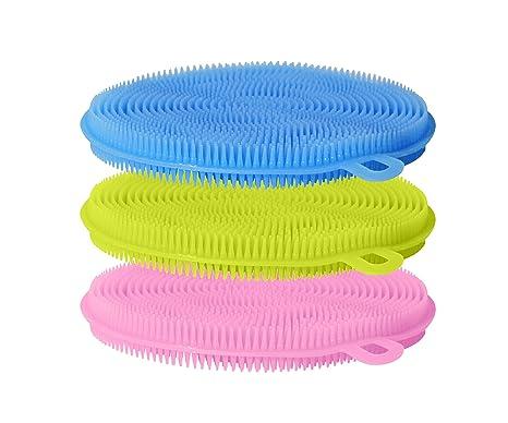 poschtek antibacteriano silicona Dish Scrubber Esponja | libre de moho, antiadherente, resistente al calor y flexible ...