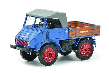 Unimog Bleu 1 Modèle Mb 450900300 32 Schuco 401 Voiture 7bgf6y