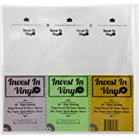 50 Master Sleeves Rice Paper Anti Static LP Inner Sleeves Mobile Fidelity MFSL Style Vinyl Record Sleeves Provide Your LP Collection with The Proper Protection - Invest In Vinyl