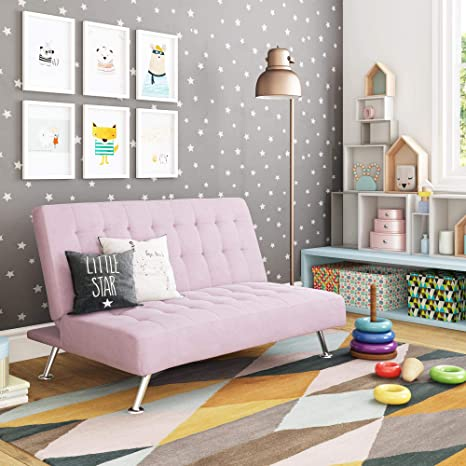 Fine Dhp Ariana Kids Sofa Futon Converts From Futon To Bed For Kids Lilac Ibusinesslaw Wood Chair Design Ideas Ibusinesslaworg