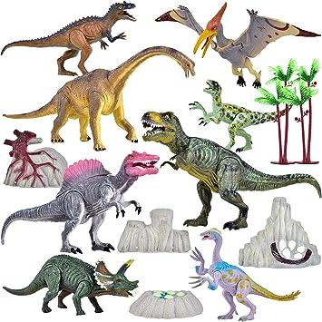 StarNeX Dinosaurios Juguetes, 14 Piezas Juego de Dinosaurios ...