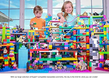 Strictly Briks Classic Big Bricks | 100% Compatible with All Major Brands | 2 Large Block Sizes for Ages 3+ Tight Fit Building Bricks in 12 Rainbow Colors | 204 Pieces