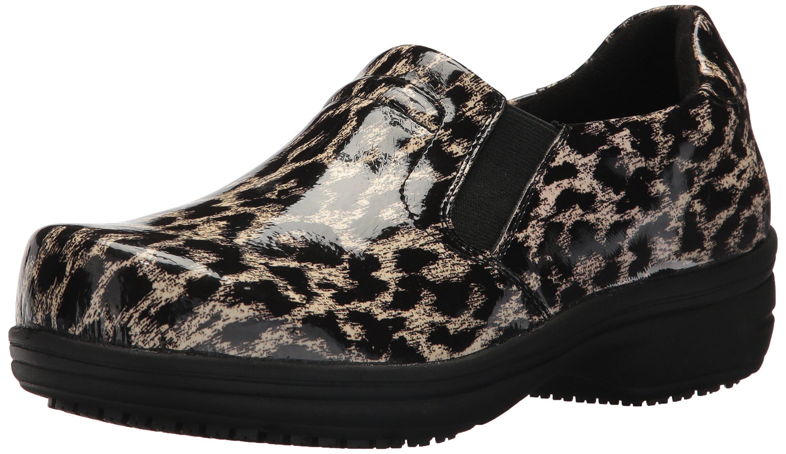 Easy Works Women's Bind Health Care Professional Shoe, Beige Leopard, 12 2W US by Easy Works