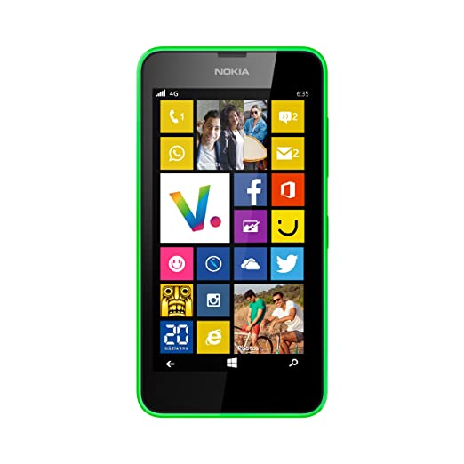"3 opinioni per Nokia Lumia 635 Single SIM 4G 8GB Green- smartphones (11.4 cm (4.5""), 8 GB, 5"