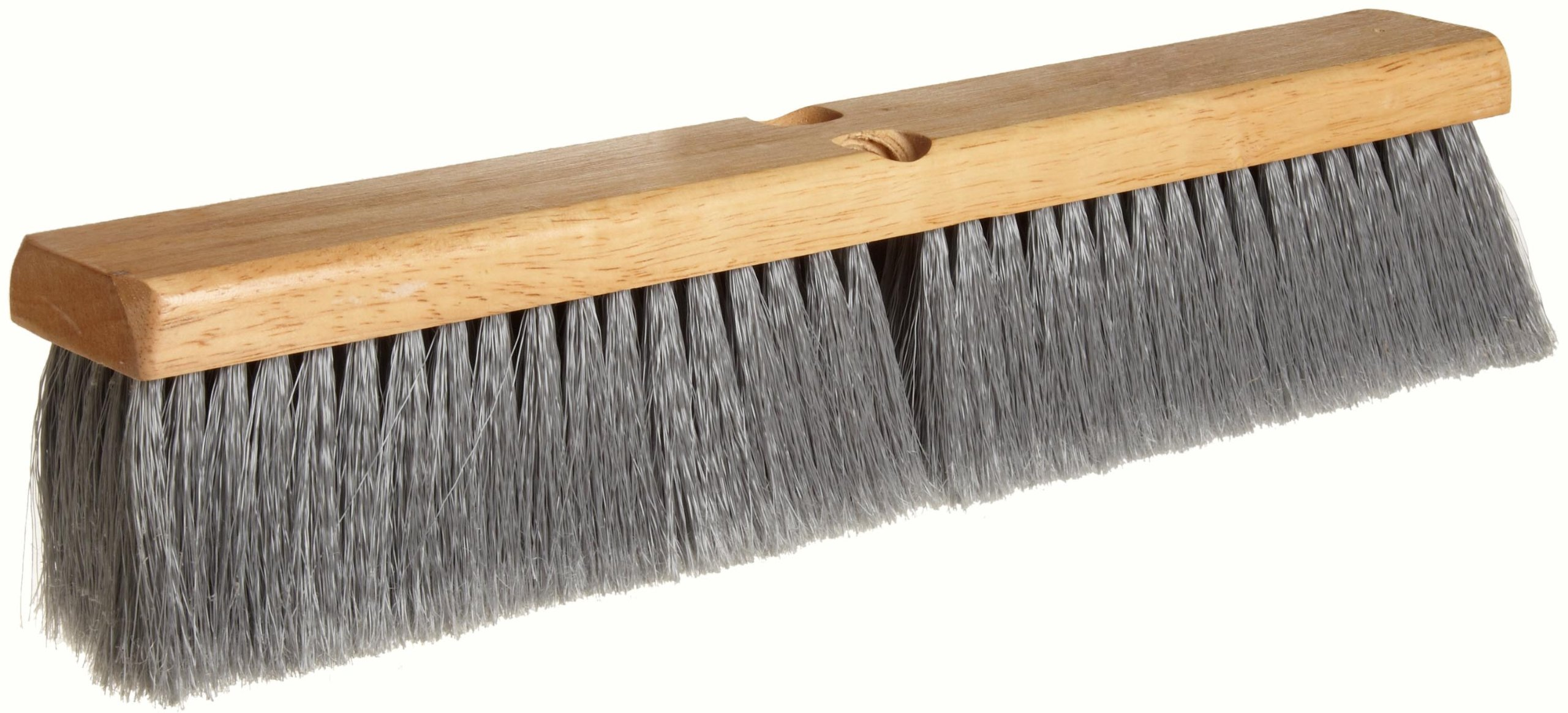 Weiler 42041 Polystyrene Fine Sweep Floor Brush, 2-1/2'' Handle Width, 18'' Overall Length, Natural