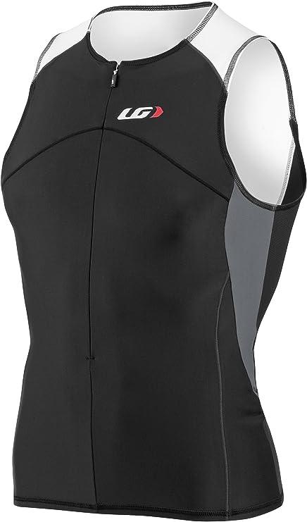 New Louis Garneau Women/'s Comp Tank Medium Black White Tri Run Bike Sleeveless