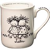 Enesco Children of the Inner Light Special Sisters Stoneware Gift Mug, 16 oz.