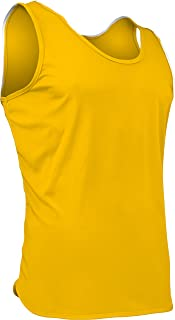 product image for PT-903-CB Men's Athletic Performance Single Ply Light Weight Track Singlet (Small, Gold)