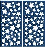 Crearreda 77223 Moderne Sticker Etoile Repositionnable Taille S Vinyle Blanc 31 x 15 x 0,05 cm