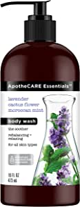 ApotheCARE Essentials The Soother Moroccan Mint Body Wash by ApotheCARE Essentials for Unisex - 16 oz Body Wash, 480 milliliters