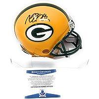 $99 » Davante Adams Green Bay Packers Signed Autograph Mini Helmet Beckett Witnessed Certified
