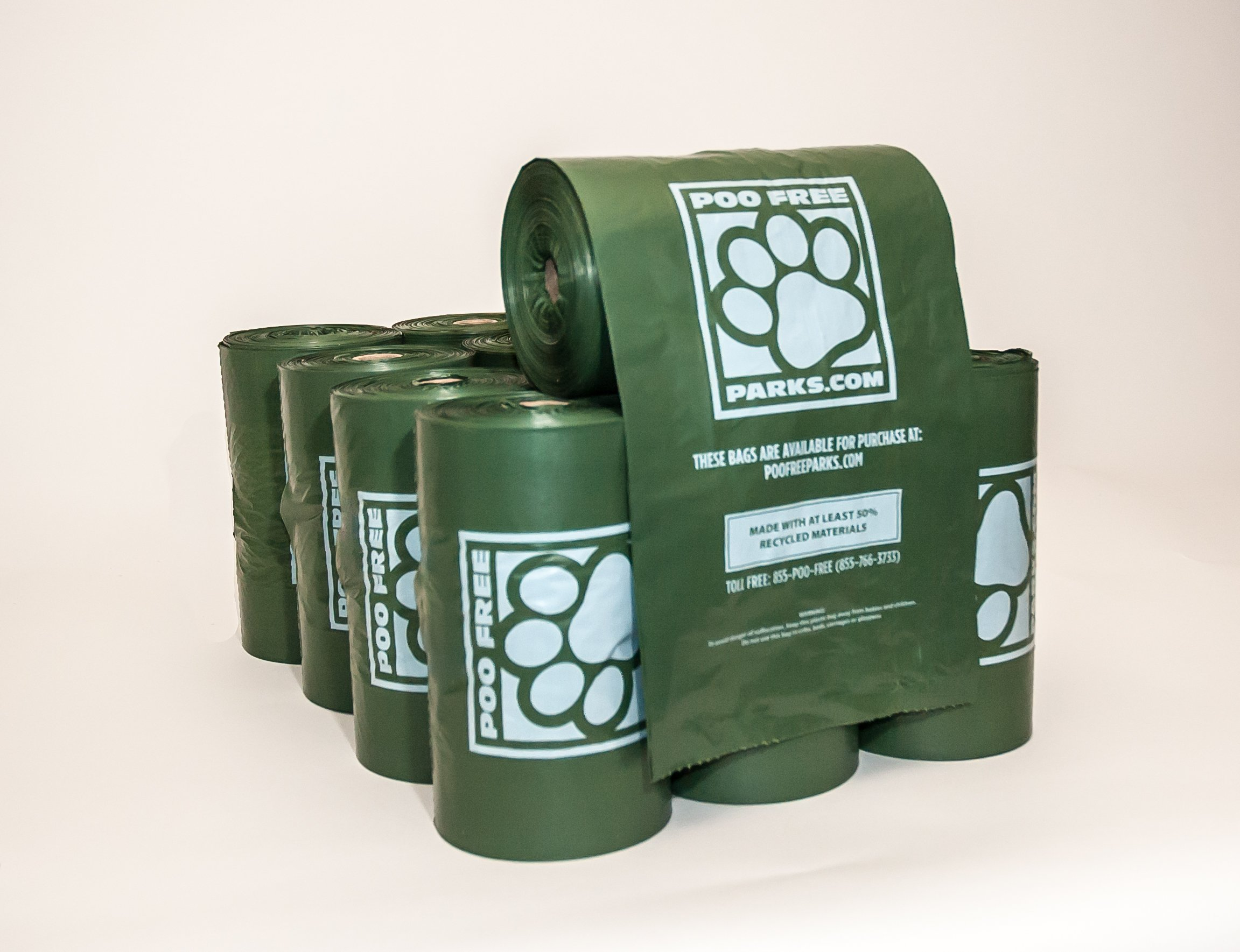 4,000 Extra Large Dog Poop Bags on 20 rolls - Poo Free Parks case of PFP200G