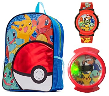Pokemon 2 Piece Kids Backpack Set - Backpack   Flashing Watch  Amazon.in   Bags bda12cebc4526