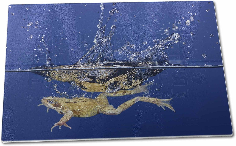 Advanta Group Grande planche /à d/écouper en verre Motif grenouille de plong/ée