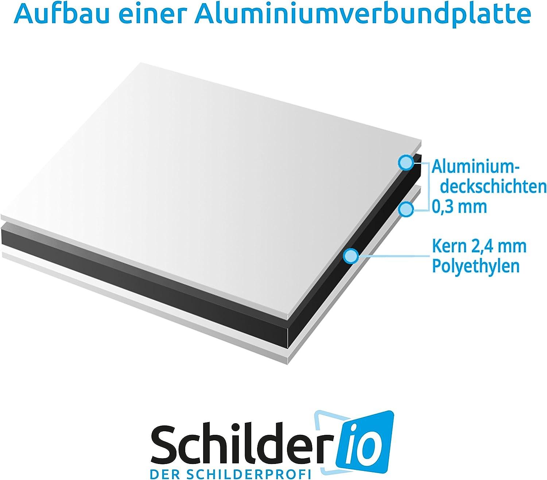 SchildPrivatparkplatz Hinweisschild 300x200 mm hochkant stabile Aluminiumverbundplatte 3mm stark