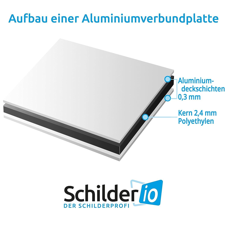4 Eckbohrungen inkl SchildGrundst/ück wird video/überwacht Hinweisschild 300x200 mm stabile Aluminiumverbundplatte 3mm stark