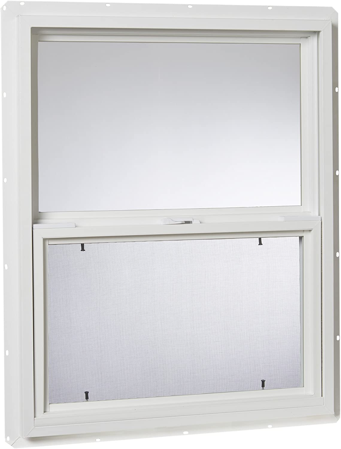 "Park Ridge Products VSH2430PR Park Ridge Glazed Vinyl Hung Window, Single Glass, 24"" X 30"", White"