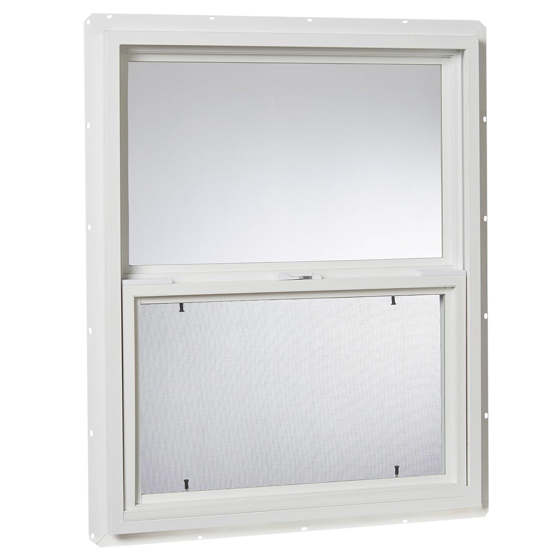 24 x 30 24X 30 Park Ridge Products Glazed Park Ridge VSH2430PR Vinyl Hung Window White Single Glass