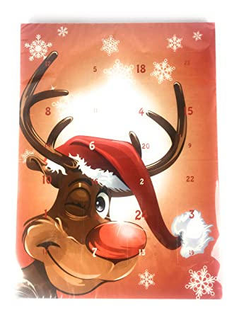Weihnachtskalender Elch.Adventskalender Schokolade Kinder Elch Rudi Weihnachtenskalender Weihnachten 75g