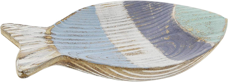 Distinctive Designs Distressed Wooden Fish Trinket Dish