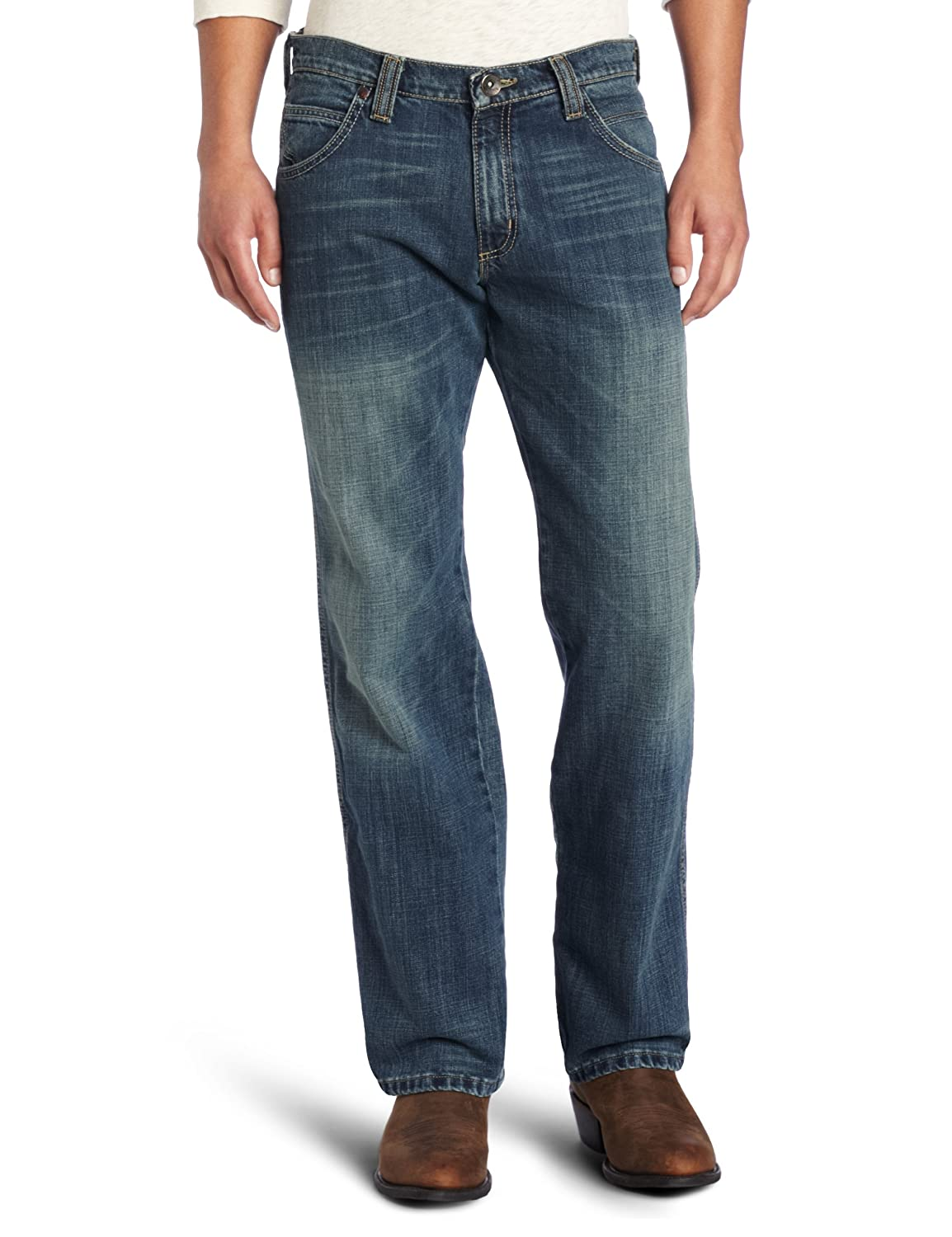 9dd26b0f Wrangler Men's Retro Relaxed Fit Straight-Leg Jean at Amazon Men's Clothing  store: Wrangler Retro Jeans For Men