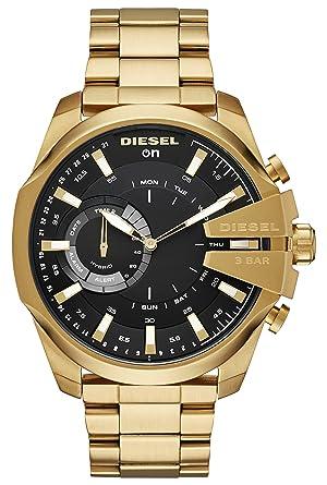 Diesel Reloj Analogico para Hombre de Cuarzo con Correa en Acero Inoxidable DZT1013: Amazon.es: Relojes