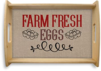 Amazon.com | Farm Quotes Natural Wooden Tray - Small (Personalized): Serving Trays