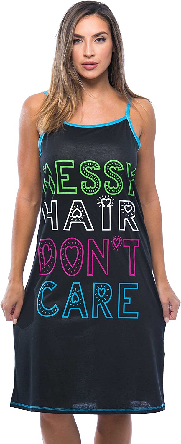 Just Love Polyester Spaghetti Strap Nightgown with Cute Graphics