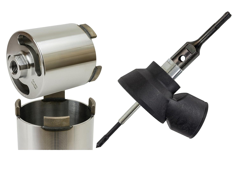 Diamant Dosensenker Ø 82 mm inklusive Staubabsaugung mit verschiedenen Aufnahmen Märkische Diamantwerkzeuge