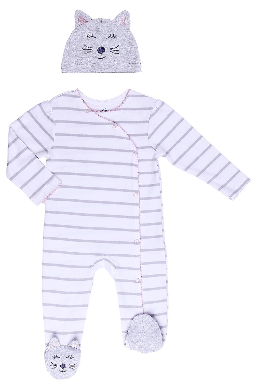 Asher and Olivia Baby Girl Footed Pajama Onesie - Infant Footie Sleepers – Newborn Jammie