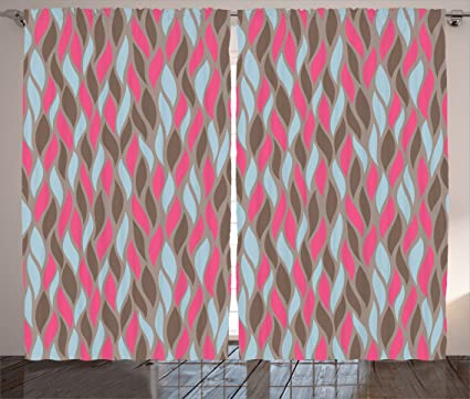 Amazon.com: Ambesonne Geometric Decor Collection, Wave Fire Flame ...