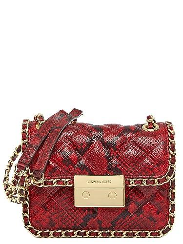MICHAEL Michael Kors Womens Carine Medium Shoulder Bag (Red Gold)  Handbags   Amazon.com e2cf657834933