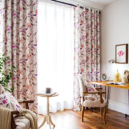 living room drapes and curtains dining room vogol printed bedroom curtains window grommet panels floral room darkening drapescurtain for living amazoncom