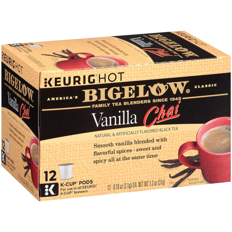 Bigelow Vanilla Chai Black Tea Keurig K-Cups, 12 Count (Pack of 6), 72 K-Cups Total