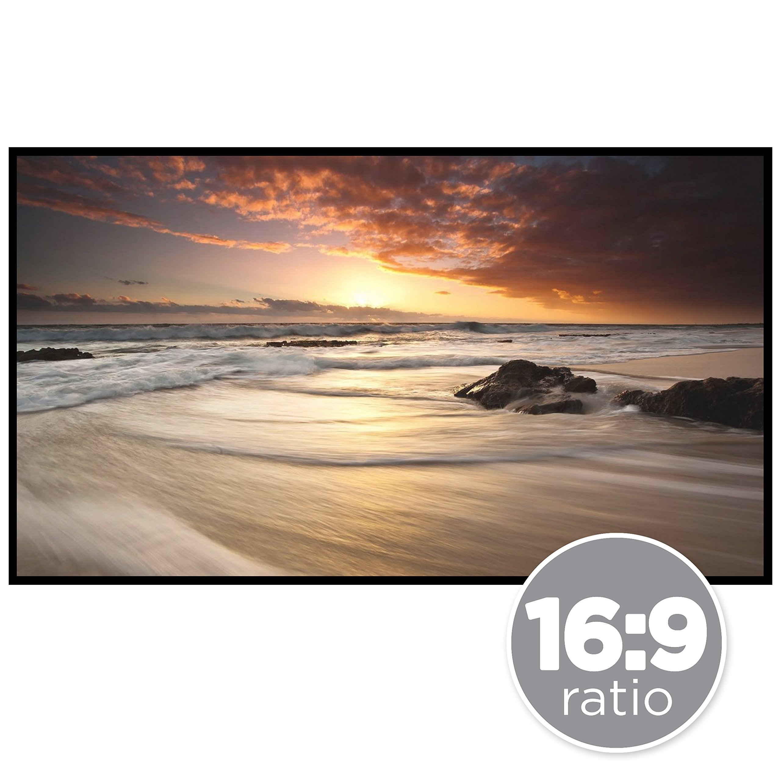 Best Choice Products 120in 16:9 HD Portable Folding Roll-Up Large Movie Projector Screen w/Velcro Fasteners - White
