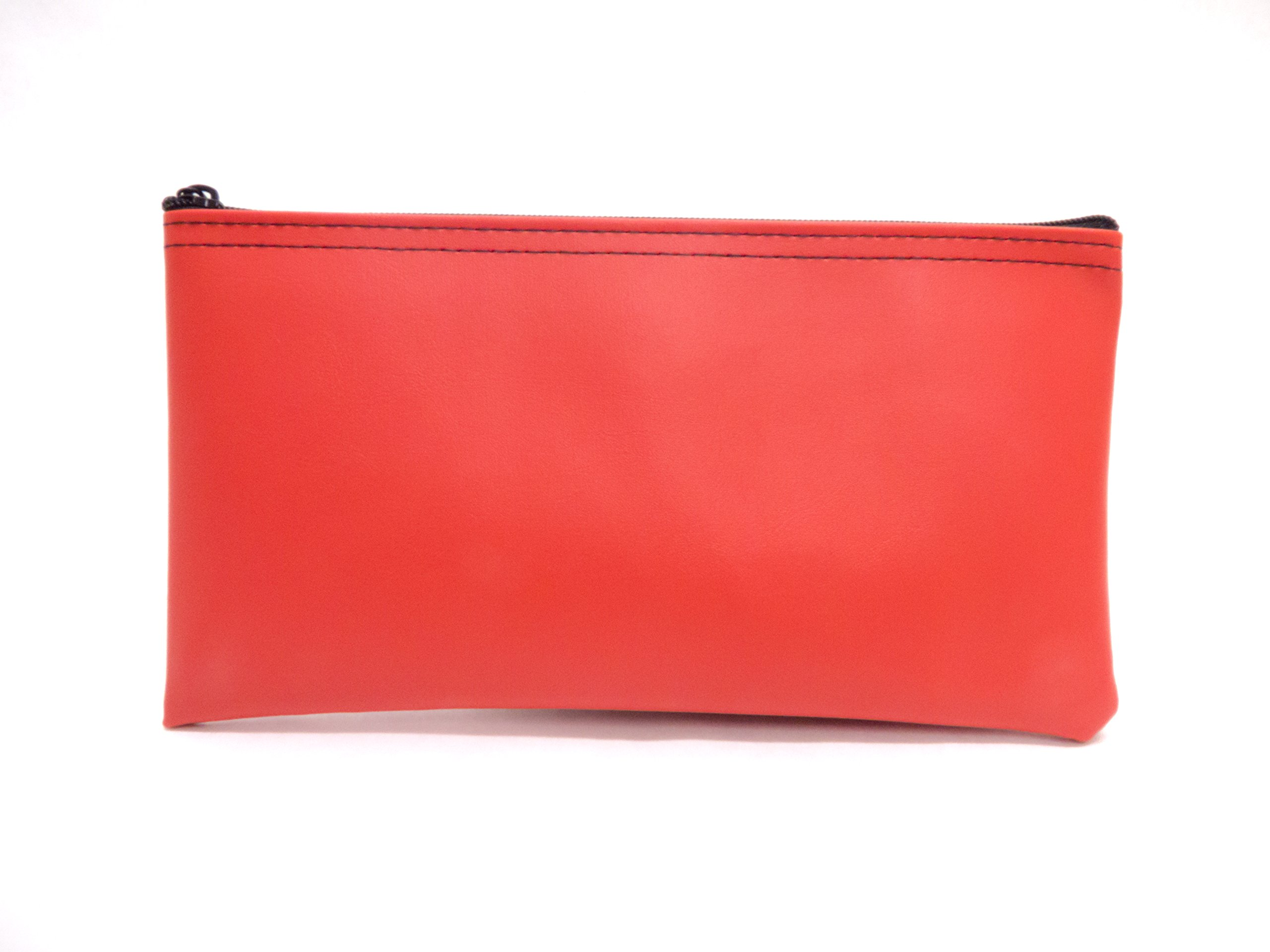 Zipper Bank Deposit Bag 5.5 X 10.5 Coin Check Money Wallet Red Pack of 10 by Carousel Checks Inc. (Image #2)