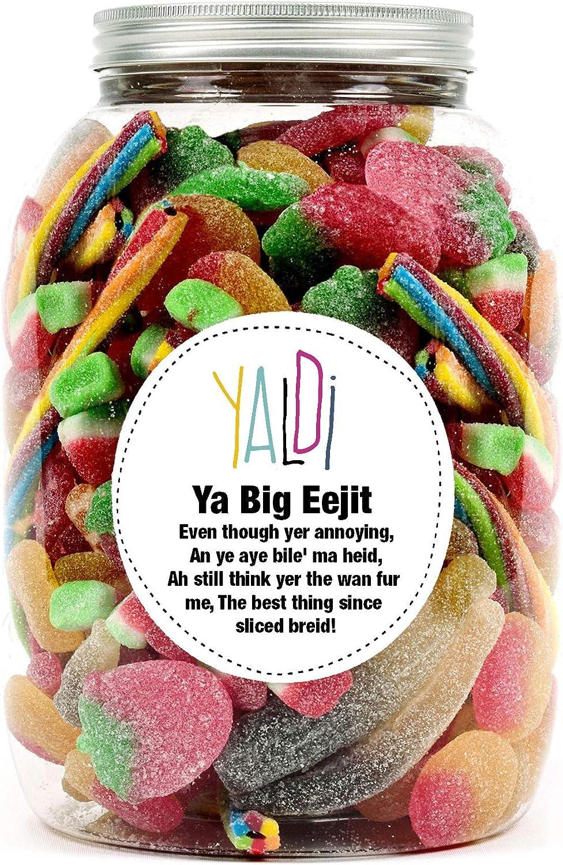 Sweet jar gift with cheeky Scottish message Ya big eejit