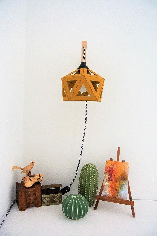 applique lampe murale origami jaune moutarde