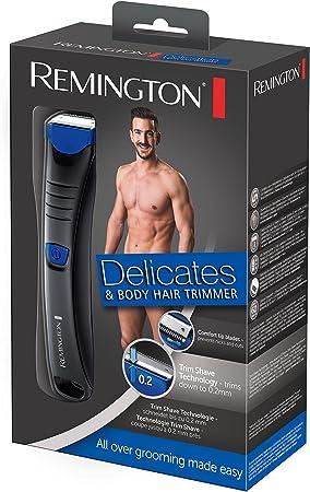 Remington BHT250 Delicates - Afeitadora Corporal, Cuchillas de Acero Inoxidable, Inalámbrica, Uso Seco y Mojado, Negro: Amazon.es: Salud y cuidado personal