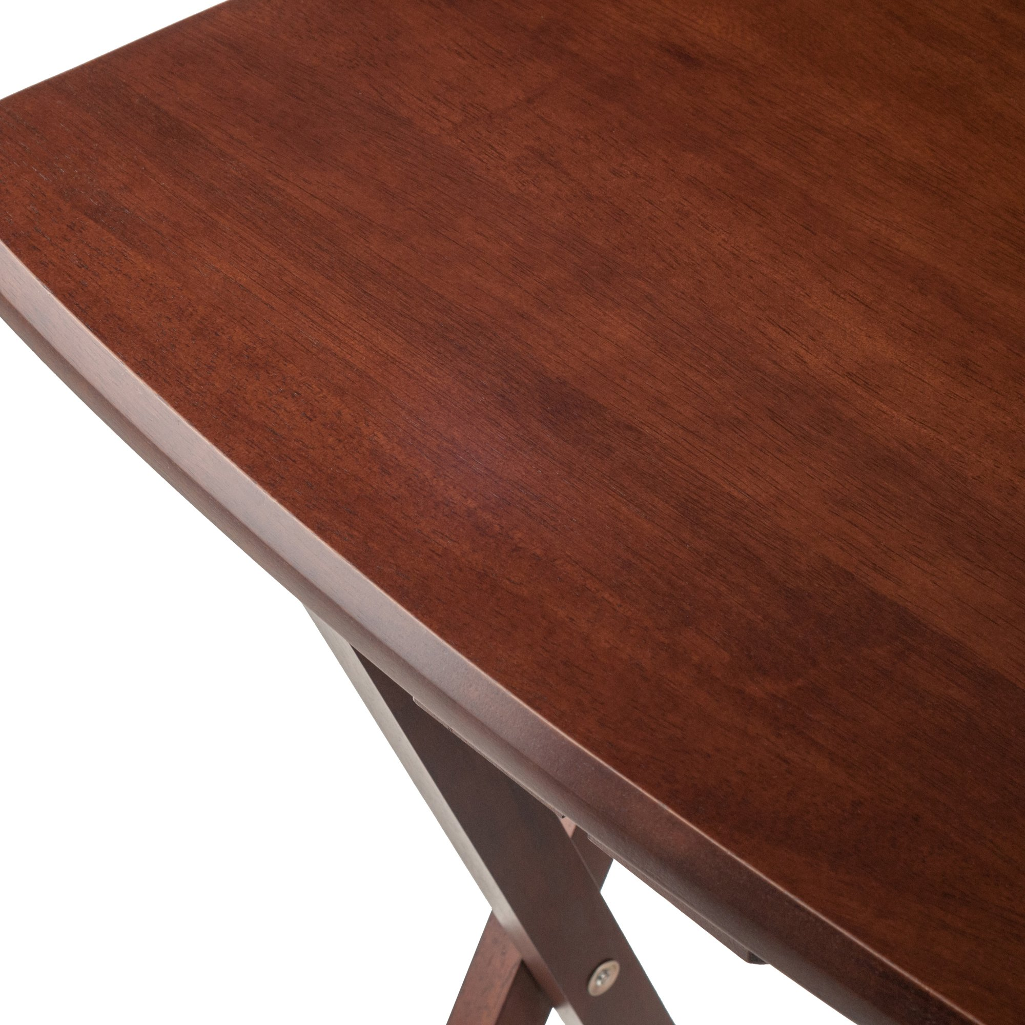 Winsome Oversize Snack Table Set, Walnut by Winsome Wood (Image #6)