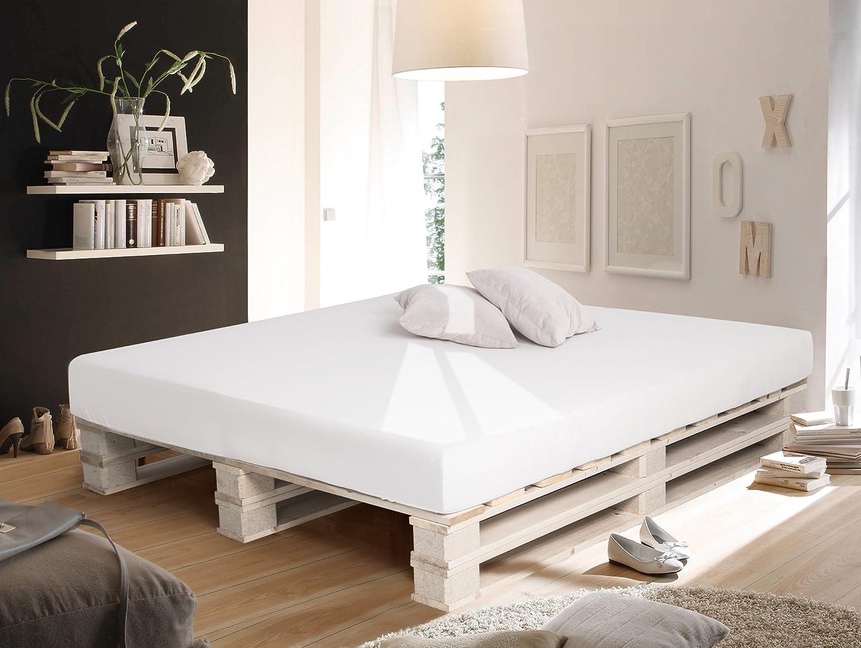 Paletti Duo Bett aus Paletten 180x200 cm: Amazon.de: Küche & Haushalt