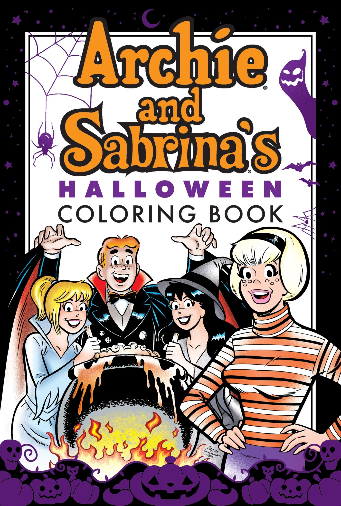 Amazon.com: Archie & Sabrina's Halloween Coloring Book ...